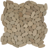 Maniscalco - Botany Bay Pebbles - Sliced Pebbles Khaki Q209