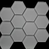 Simpson Desert Glass   Hexagon Urban Mist Matte (3x3) 9407