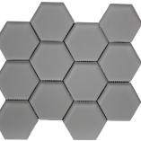 Simpson Desert Glass   Hexagon Doe Skin Matte (3x3) 9408