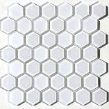 Raffi Glass - Hexagons - HEX-21Milk