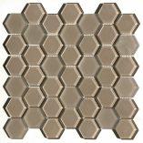 Raffi Glass - Hexagons - HEX-24Mocha