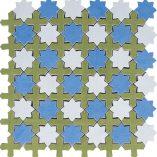 Interceramic - Aquarelle - Star Blue Glazed 12x12