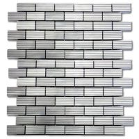 Ridged Aluminum Brick | Brushed Steel