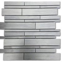 Ridged Interlocking | Brushed Steel