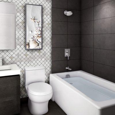 Marme Canada Sienna White Arabesque Mosaic