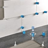 ProLevel is a mechanical leveling system for tile and stone.