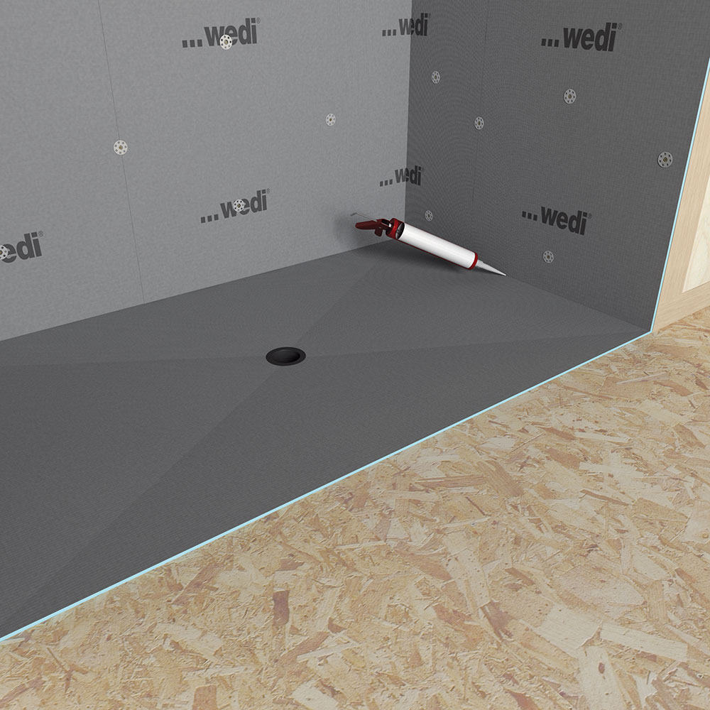 Wedi Fundo Ligno Curbless Shower Genesee Ceramic Tile