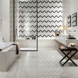 Marvel Stone | Carrara Pure, Chevron Mix Wall