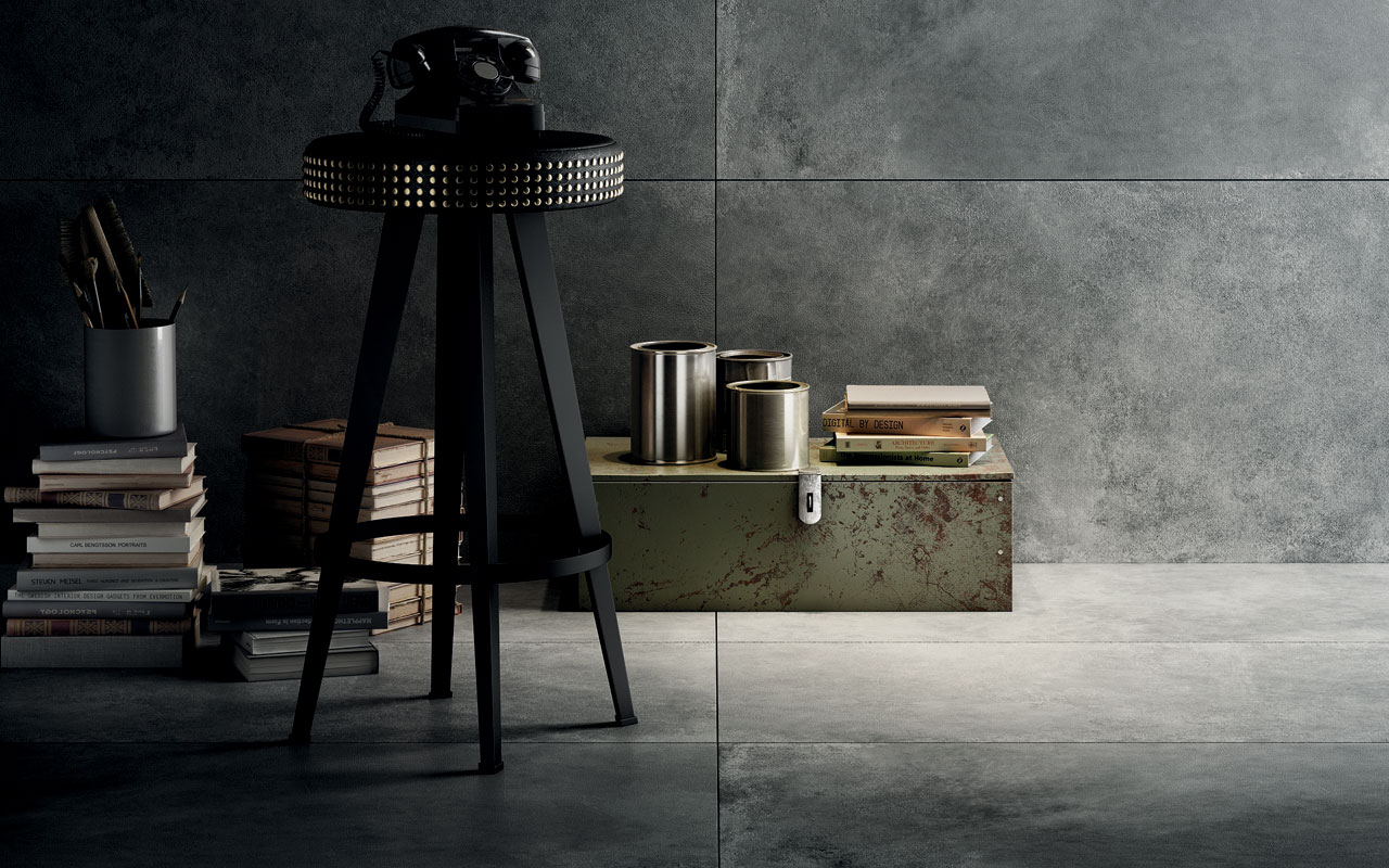 Hard leather diesel living iris ceramica genesee ceramic tile for Is it hard to become an interior designer