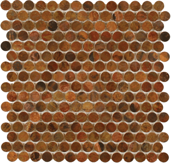 Copper Penny Tile Copper Penny Tile Houzz Copper Penny Tile